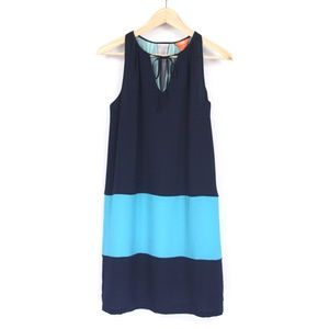 Navy/Teal Sleeveless Dress